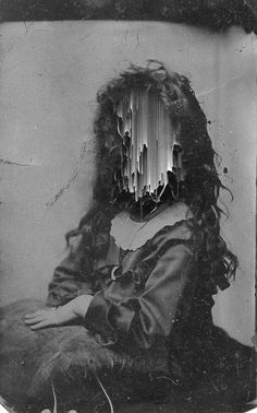Digital artist Giacomo Carmagnola combines the old and new to create symbolic modern images. Inspired by glitch art and writers like H. Victorian Photos, Antique Photos, Vintage Photographs, Victorian Women, Vintage Images, Old Pictures, Old Photos, Victorian Photography, Creepy Kids