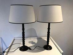Sfeer lampen, kap met voet 2x, set