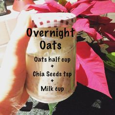 How to prepare oats. Overnight Oats are a convenient, nutritious & tasty breakfast option. Soaking oats overnight (or any grain) before eating them is also a very important health step. Milk Cup, Breakfast Options, Overnight Oats, Baking Ingredients, Fern, Cookie Dough, Sugar Free, Grains