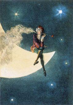 Man in the Moon: evening smoke