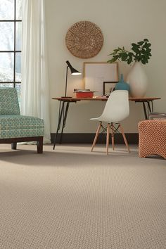 Home Office Inspiration | Subtle Patterned CArpet | Tuftex Carpets Of  California Style Cathedral Hill Brown