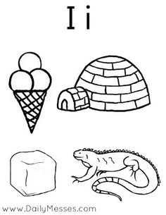 Alphabet Coloring, Igloo Coloring Pages Alphabet I: Igloo