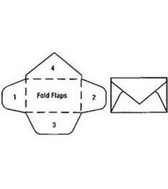 """TOOTH FAIRY: Tooth Fairy Door -- Mini Envelope Punch (Folded Size 1.5"""" X 1"""".) This mini envelope punch would speed up making the Tooth Fairie envelopes to accompany the Tooth Fairie Door."""