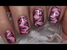 Einfaches Dry Brush Nageldesign / Messy Nail Art Design / Nägel lackieren
