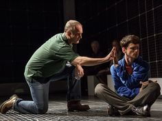 Andrew Long as Ed and Tyler Lea as Christopher in The Curious Incident of the Dog in the Night