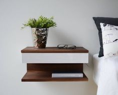 Easy Tip About Floating Shelves Bedroom Nightstand Night Table Explained 8 Bedroom Night Stands, Bedroom Sets, Home Decor Bedroom, Diy Bedroom, Night Stands Diy, Bedroom Table, Bedrooms, Diy Nightstand, Floating Nightstand