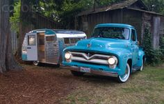 vintage truck and trailer...got the vintage trailer...now all i need is the vintage truck!!!! A girl can dream can't she?