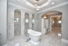 Luxury Bathrooms Interior Design Andrea Lauren Elegant Interiors offers high end interior design and luxury home decorating services in Tampa, Sarasota Interior Design Photos, Bathroom Interior Design, Luxury Real Estate, Traditional House, Master Bathroom, Luxury Homes, Beautiful Homes, Living Room Decor, New Homes