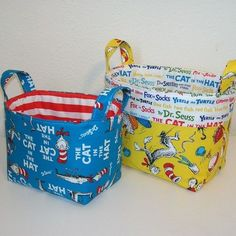 Awesome Great baskets to put their gifts in!...   Dr. Seuss Twin Party Check more at http://ukreuromedia.com/en/pin/16707/