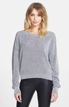 marled cotton pullover / leith