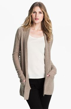 White + Warren Thermal Front Cashmere Cardigan available at #Nordstrom