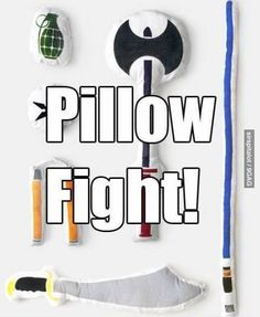 "I'm gonna make stuff like this for my kids! That would be the most awesome pillow fight ever! I can't wait to scream ""pillow fight!"" And bust out some weapons! My Sun And Stars, Diy Couture, Take My Money, Pillow Fight, Comme Des Garcons, Shut Up, Looks Cool, My New Room, Geeks"