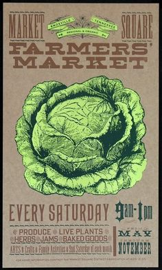 Farmer's Market Cabbage Fresh: *heart* lovely and era/theme evocative posters