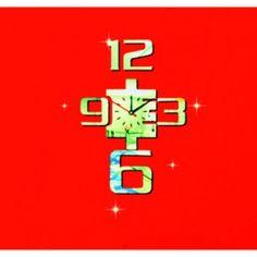 Moderné nalepovacie hodiny zlaté čísla , nálepka na stenu .