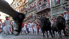Running of the bulls in Pamplona - Spain