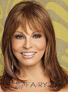 Lace front for the most natural looking hairline. Monotop for styling ease, this shoulder length style is one of the more beautiful Raquel Welch wigs. Beautiful hair can be had in seconds. Vivica Fox, Hairstyles For Round Faces, Wig Hairstyles, Shoulder Length Hair Styles For Women, Wigs For Cancer Patients, Cheap Human Hair Wigs, Raquel Welch Wigs, Medium Hair Styles, Long Hair Styles