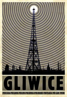 Polish promotion poster: Gliwice Radio Tower. Ryszard Kaja, 2012.