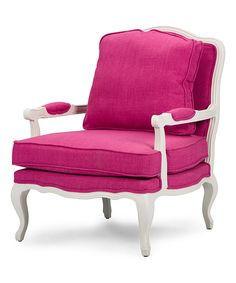 Look at this Pink Classic Antiqued French Accent Chair on #zulily today!