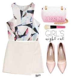 """Girl's Night Out"" by mycherryblossom ❤ liked on Polyvore featuring Marc by Marc Jacobs, Moschino, Bobbi Brown Cosmetics, women's clothing, women, female, woman, misses and juniors"