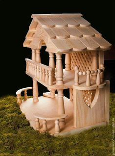 Instant Access To Woodworking Designs, DIY Patterns & Crafts Popsicle Stick Houses, Popsicle Stick Crafts, Craft Stick Crafts, Wood Crafts, Diy And Crafts, Wooden Dollhouse, Diy Dollhouse, Hamster House, Doll House Plans