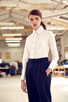 Fitted Shirt - New - Woman New Woman, Workout Shirts, Runway, Couture, Winter, Fitness, Collections, Design, Women