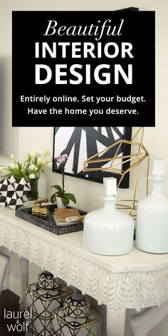 Laurel & Wolf is the # 1 destination for professional interior design services - entirely online. For an affordable flat fee, you'll receive custom designs, a floor plan, and a shopping list of products based on your style & budget. Only buy what you want! And if you don't like your designs, we'll refund your money. Finally - quality interior design is affordable for everyone. Visit us to learn more!