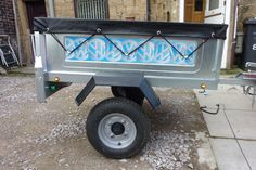 vw camping trailer with decals never been used