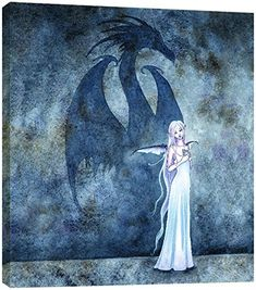 Tree-Free Greetings EcoArt Wall Plaque, 11.25 x 11.25 Inches, Dragon Shadow with Fairy by Amy Brown (83590)