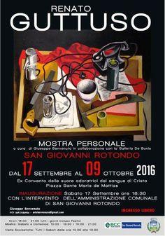 Renato Guttuso, mostra personale dal 17 settembre al 9 ottobre 2016 a San Giovanni Rotondo