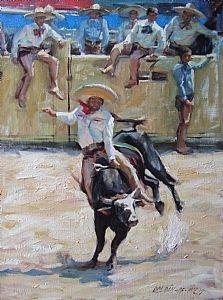Day in Old Mexico ~ by Gladys Roldan-de-Moras Oil