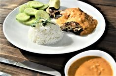 Baked chicken in peanut sauce – Meksikansk Mat Peanut Sauce Chicken, Baked Chicken, Palak Paneer, Baking, Ethnic Recipes, Food, Chargrilled Chicken, Bread Making, Meal