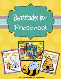 Bible Fun For Kids: The Beatitudes: Preschool Printables