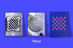 Mamimu Manhole Inspiration Tokyo #graphicdesign #inspiration #グラフィックデザイン Graphic Patterns, Graphic Design, Laptop Tote Bag, Simple Colors, Electric Blue, Canvas Leather, Color Blocking, Screen Printing, Tokyo