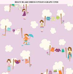 Riley Blake Dress Up Days Grape C2920 by GiraffesJellybeans