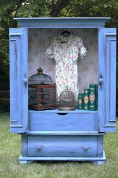 Blue French/Country  Armoire by LaVantteHome on Etsy, $690.00