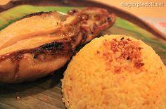 Chicken inasal and garlic rice from Bacolod Chicken Inasal~ <3