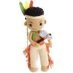Crochet Fairy, Crochet Bear, Cute Crochet, Crochet Doll Clothes, Crochet Dolls, Amigurumi Patterns, Crochet Patterns, Thanksgiving Crochet, Indian Boy