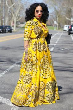is on gown styles. Ankara gown styles comprise both the long gown styles and the short gown styles. The gown styles generally are designed to drape above the knee or below the knee. They are the most patronised Ankara Style. Long African Dresses, Latest African Fashion Dresses, African Print Dresses, African Print Fashion, African Attire, African Wear, African Style, Ankara Gown Styles, Ankara Gowns