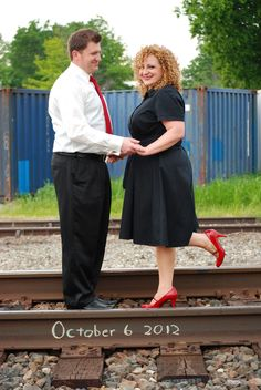 Engagement Photos - Train Tracks.... Save the Date