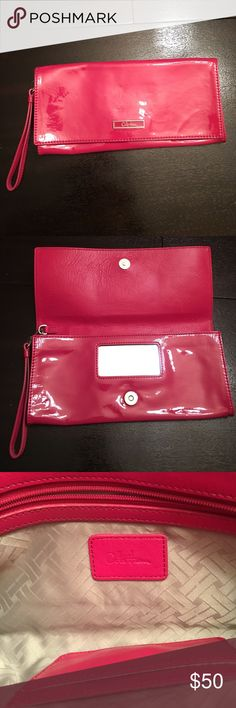 Pink Cole Haan Clutch Purse This beautiful Cole Haan Clutch is a perfect pop of color for whatever outfit you choose to wear! This is not a replica. Clutch was purchased from actual Cole Hann store. Cole Haan Bags Clutches & Wristlets