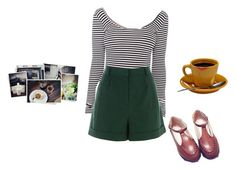 """""""Untitled no. 2"""" by samarayared on Polyvore featuring American Apparel, Warehouse and Zandy Shoes"""