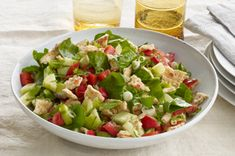 Full of bright, bold flavours and farm-fresh veggies, this Mediterranean Bread Salad is a classic salad with a simple twist. Mediterranean Bread, Mediterranean Quinoa Salad, Make Ahead Salads, Classic Salad, Bread Salad, Quinoa Salad Recipes, Cooking Instructions, Original Recipe, Coleslaw