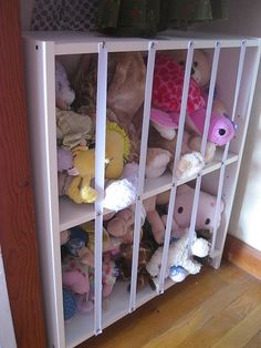 Stuffed animal storage DIY organization kids room