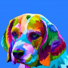 colorful beaglecolorful beagle on pop art style . Black Texture Background, Geometric Background, Vector Background, Arte Pop, Beagle Colors, Art Beagle, Cute Beagles, Colorful Animals, Animal Posters