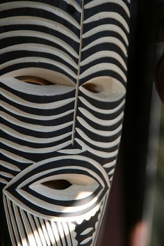 African mask. No reference found to place, date, original source, photographer.