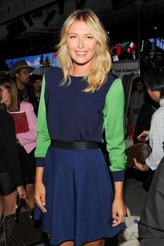 Maria Sharapova at the #philliplimfortarget launch. Not a fan of her tennis, but I do like the dress.