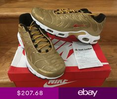 Nike Air Max Plus TN Metallic Gold QS GS Women Men Sz 6-13 New d6365060d
