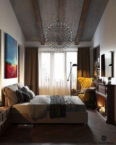 Interior bedroom in Loft on Behance