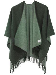 Holzweiler Twofaced Poncho Army/Mint Dear Santa, Kimono Top, Army, Mint, My Style, Sweaters, Tops, Women, Fashion