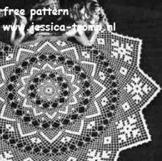 Centerpiece in Netted Crochet - free vintage crochet doilies patterns